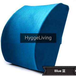 Hygge Living Lumbar Spinal Support Hybridised Memory Foam Cushion Slow Rebound Memory Foam Velvet Brand New Wheelchair Computer Chairs