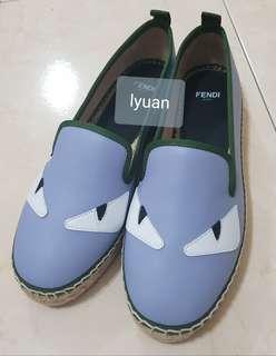 Fendi 草編鞋 歐碼37.5