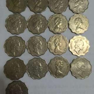 香港 二蚊 二元 貮圓 1989 1975 1990 2蚊 1980