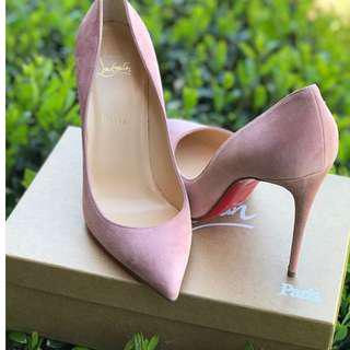 Authentic Christian Louboutin Piggalle folliese pink suede