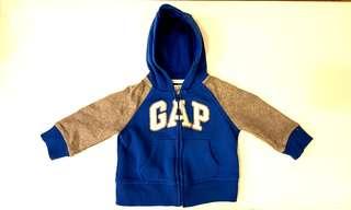 BabyGap: GAP Logo Zip Hoodie Sweatshirt (Blue/Grey)