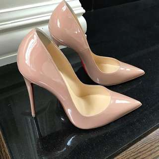 Authentic Christian Louboutin so Kate nude