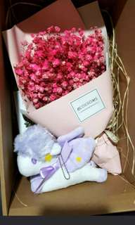 Little twin star baby breaths bouquet