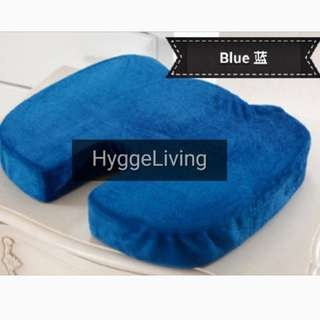 Hygge Living Pressure Relief Hybridised Memory Foam Seat Cushion with Coccyx Cutout Slow Rebound Memory Foam Velvet Brand New Wheelchair Computer Chairs