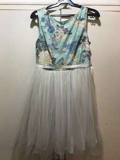 Miss Selfridge Floral & Tulle Dress