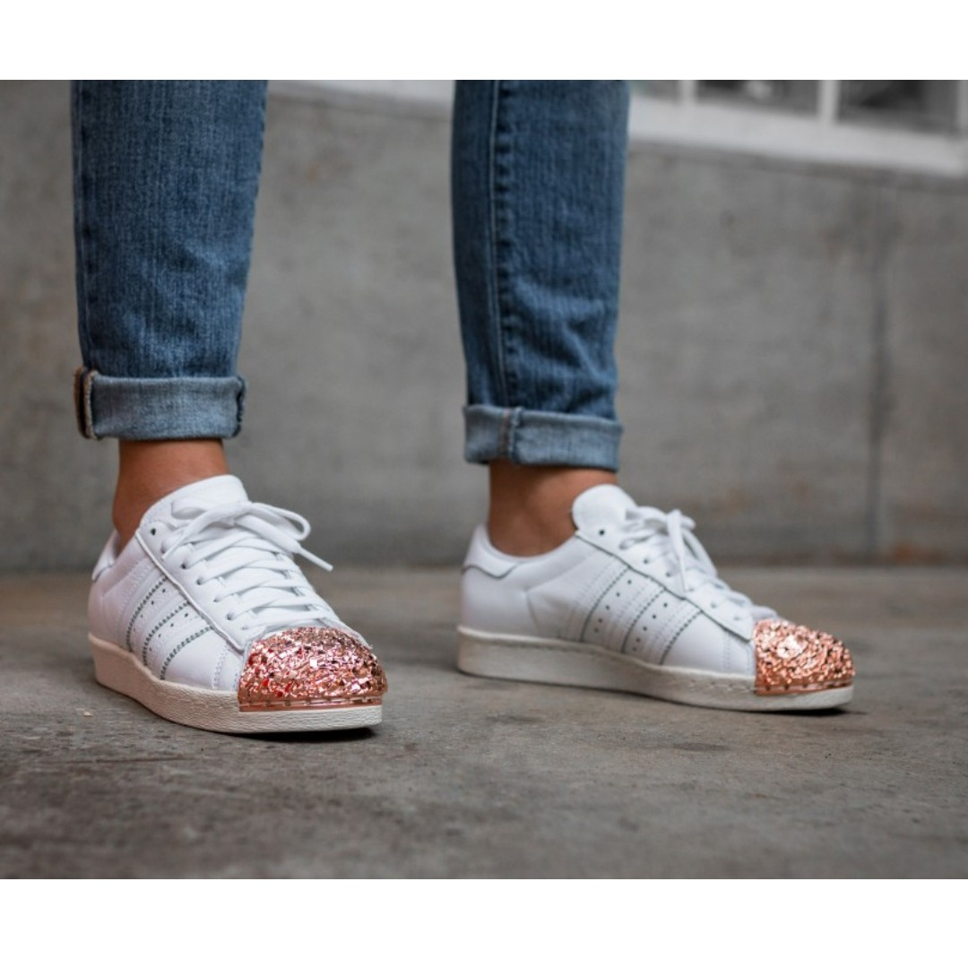 official photos c15da fdfb4 Adidas Superstar 80S Rose Gold, Women s Fashion, Shoes, Sneakers on  Carousell