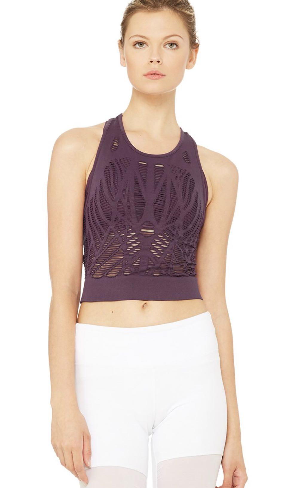 37ee0655f99f36 ALO Yoga Vixen Fitted Crop Top