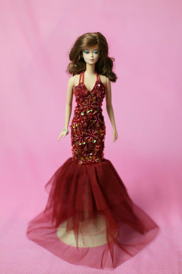 Barbie Doll Red mermaid Gown, Toys & Games, Bricks & Figurines on ...