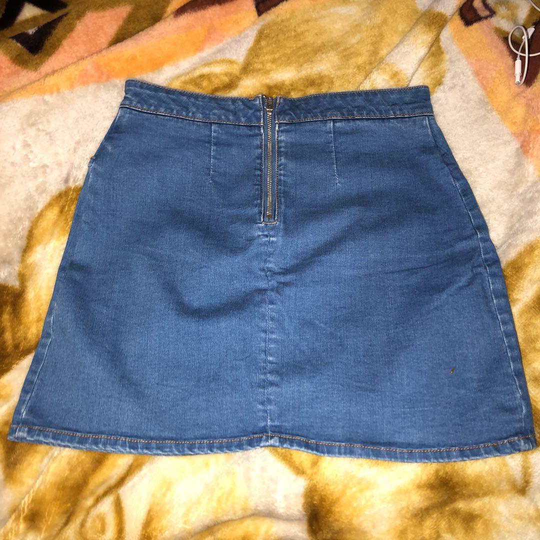 Blue Denim Skirt - Glassons