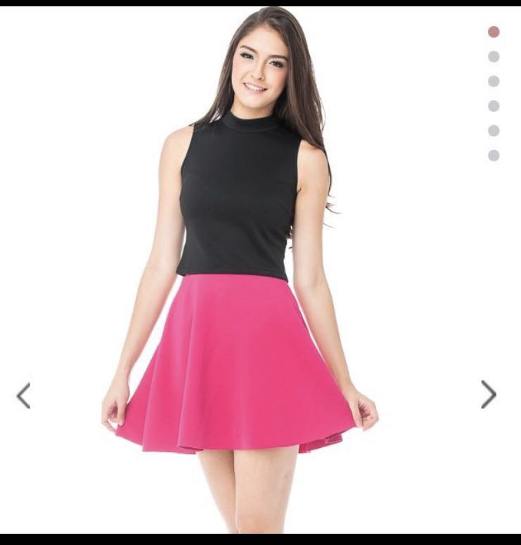 ede7659a11 Bn Blush inc Libby Skater skirt in fuchsia