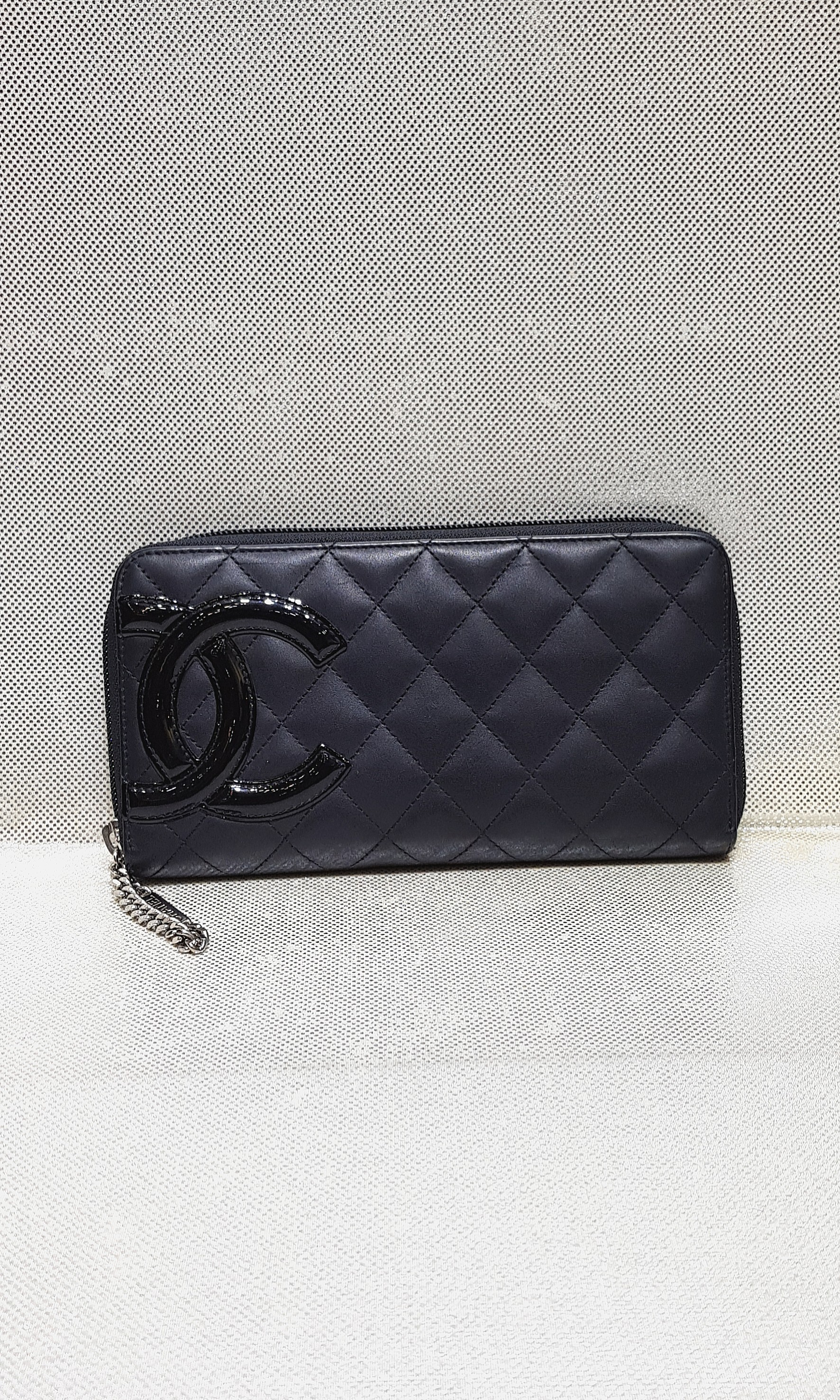 3dfc0438f718 Chanel Black Cambon Zippy Long Wallet, Luxury, Bags & Wallets, Wallets on  Carousell