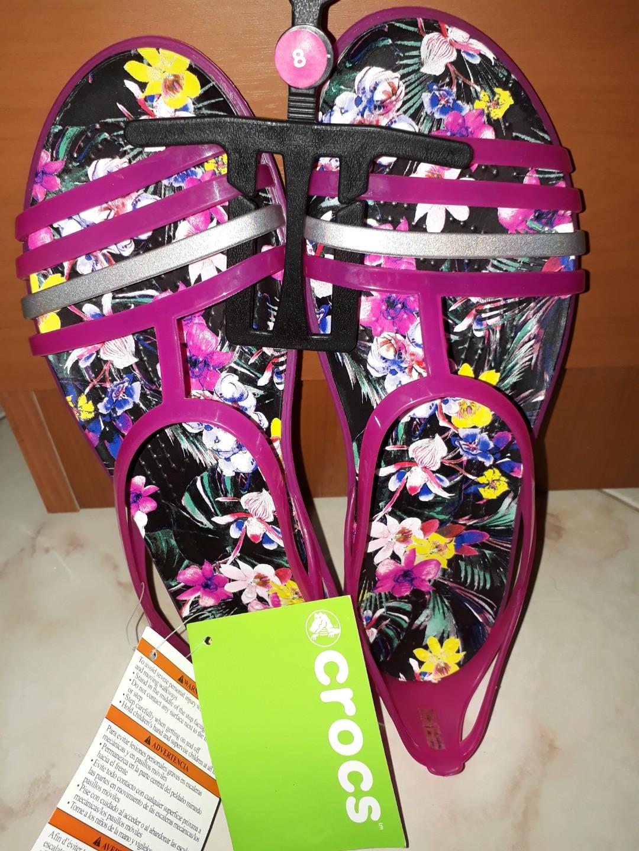 368f77b3b44d Crocs isabella graphic sandal candy pink tropical