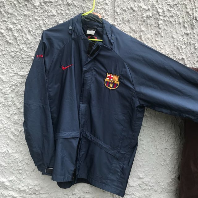 Curated Nike Fc Barcelona Windbreaker Men S Fashion Clothes Outerwear On Carousell