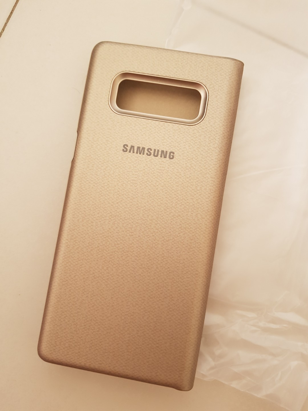 low priced d3dc0 49505 Flip, Official Samsung Note 8 LED View Cover Case - Gold