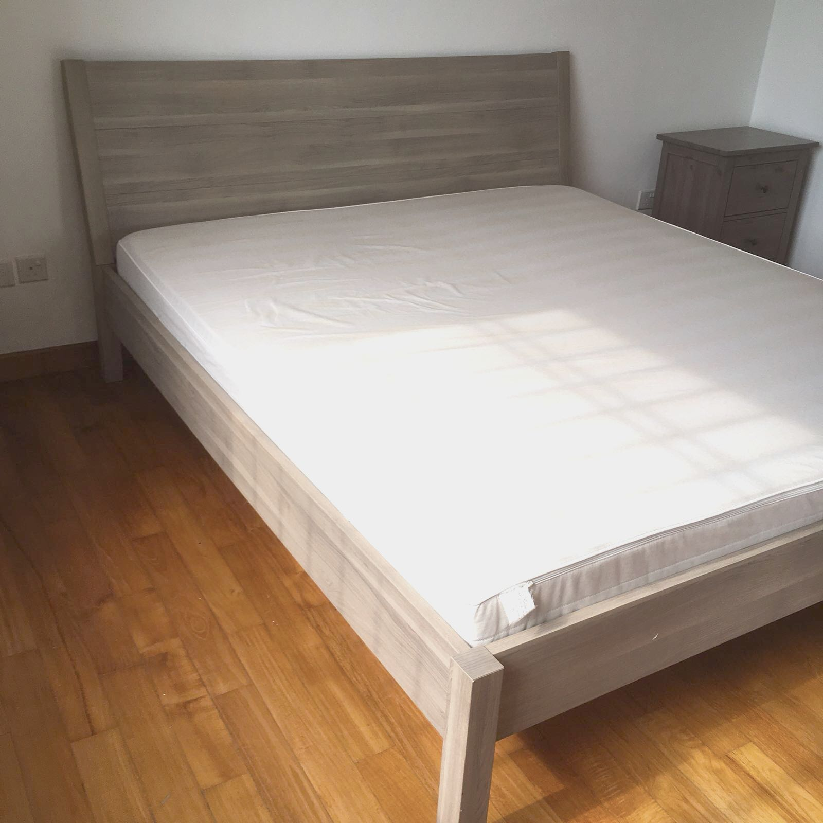 Great Condition Ikea King Size Bed Frame & Mattress, Furniture, Beds ...