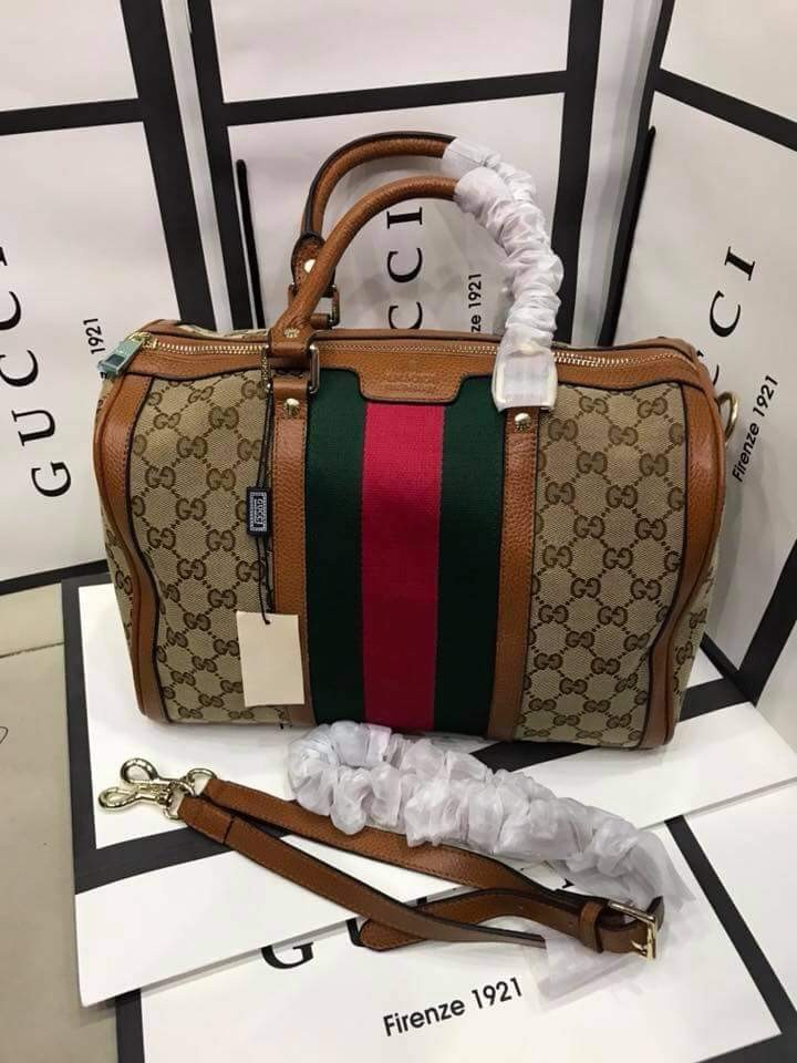 96ea0548e Gucci Boston Bag Vintage Web, Women's Fashion, Bags & Wallets on ...