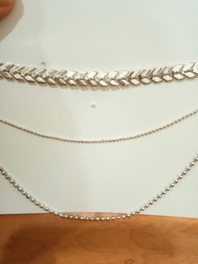 H&M layer necklaces/ kalung