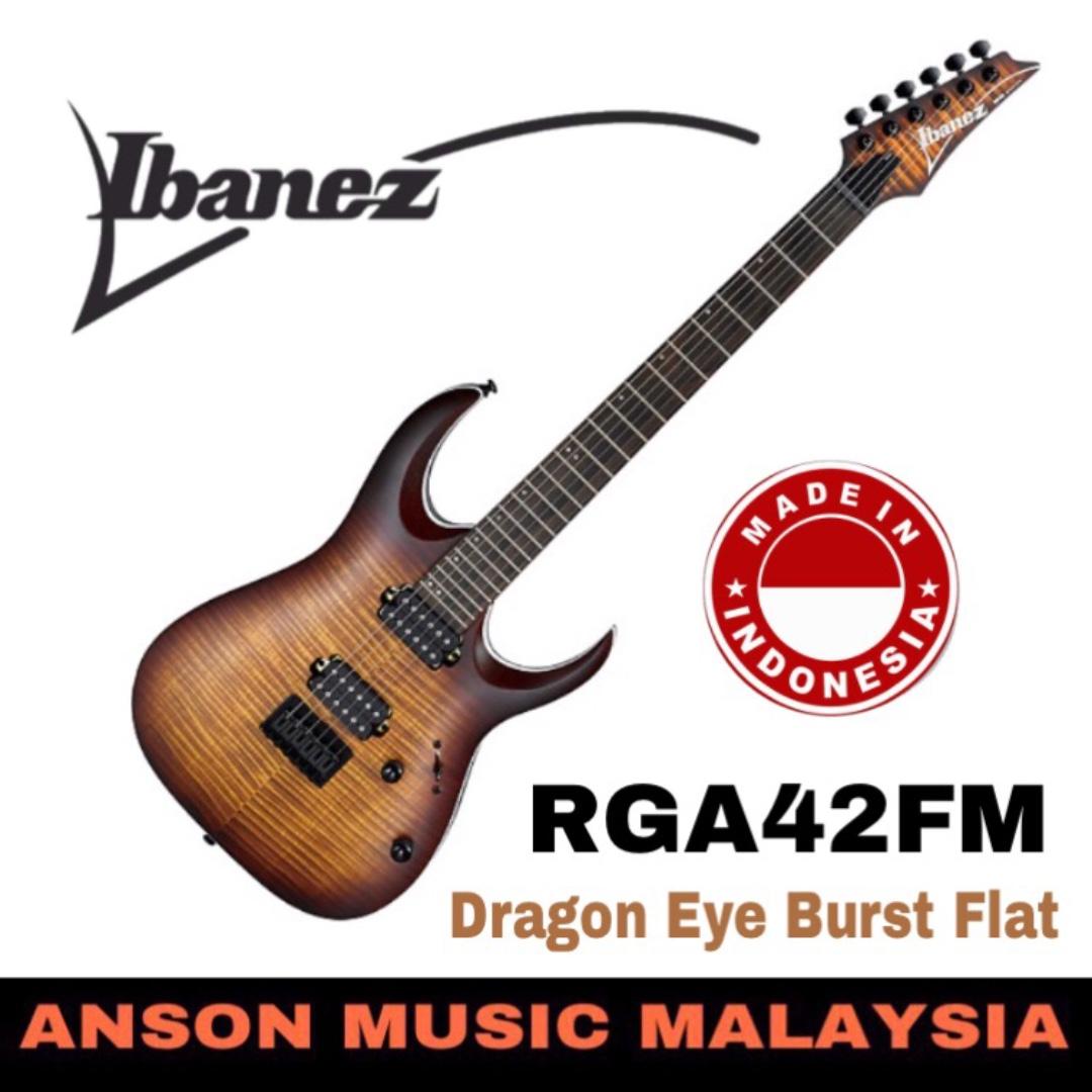 Ibanez RGA42FM Electric Guitar, Dragon Eye Burst Flat (DEF) on
