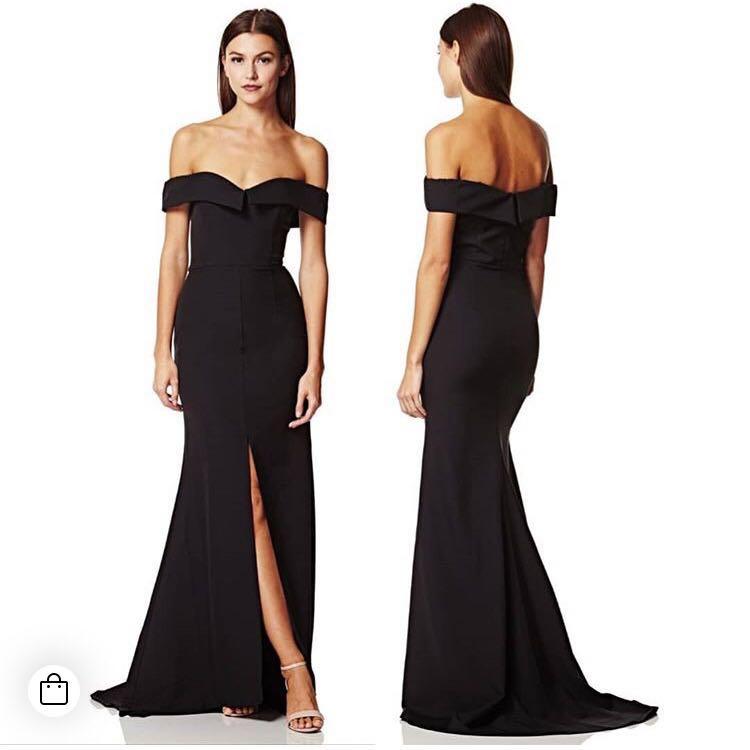 2c5bda00253f Jarlo London Black Autumn Long Gown Dress, Women's Fashion, Clothes ...