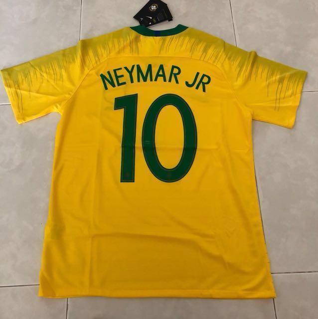 703887e04 New 2018 Brazil World Cup Home Jersey M Size Neymar Jr 10, Sports, Sports  Apparel on Carousell