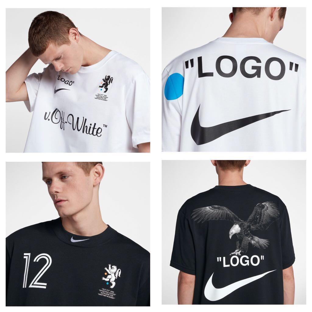 84283722f NikeLab x off White Football Mon Amour tees