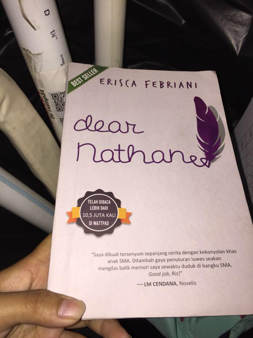 novel dear nathan quote cinta tanpa batas books stationery