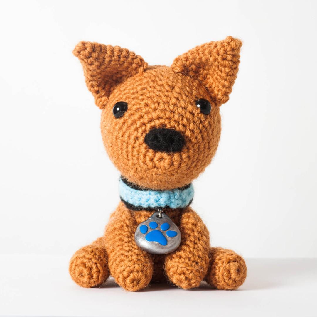 crochet pattern, english or german, dog Arno | 1080x1080