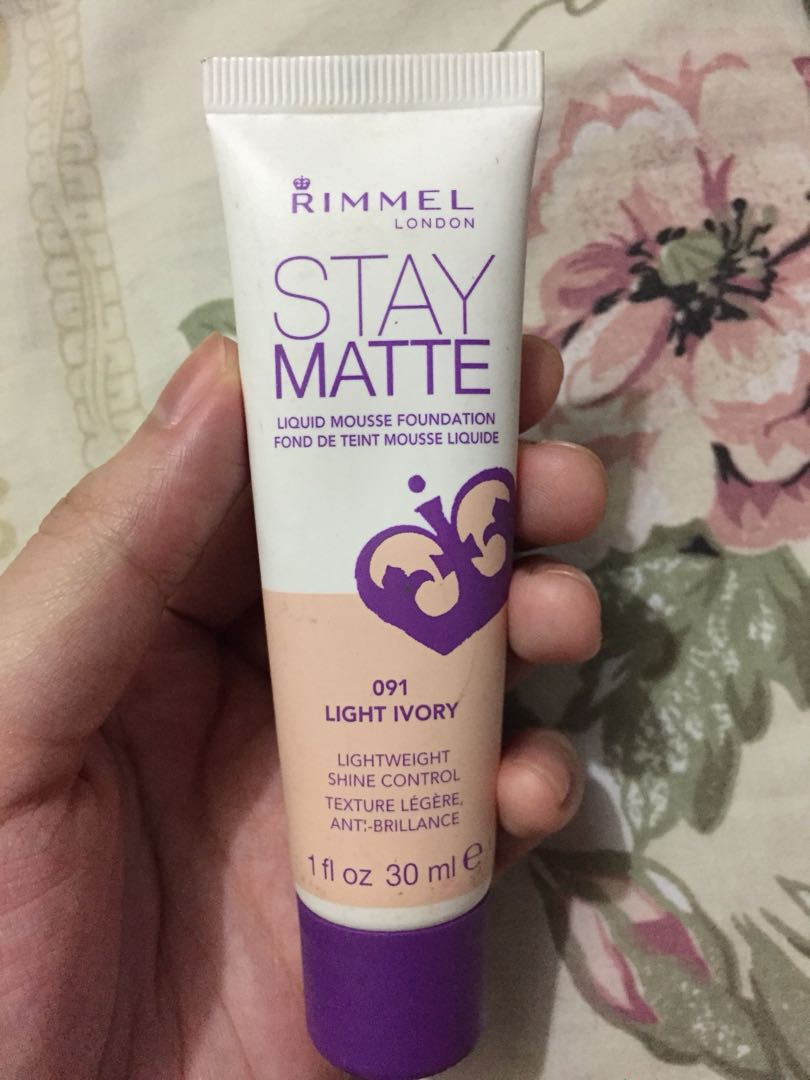 Rimmel Stay Matte Foundation, Preloved Health & Beauty, Makeup on Carousell