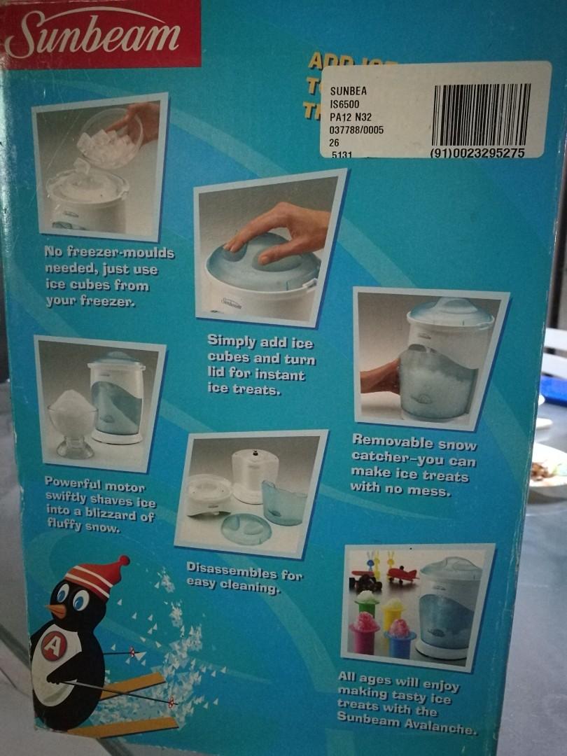 Sunbeam Avalanche Ice Shaver ( ice crusher ), Kitchen & Appliances ...