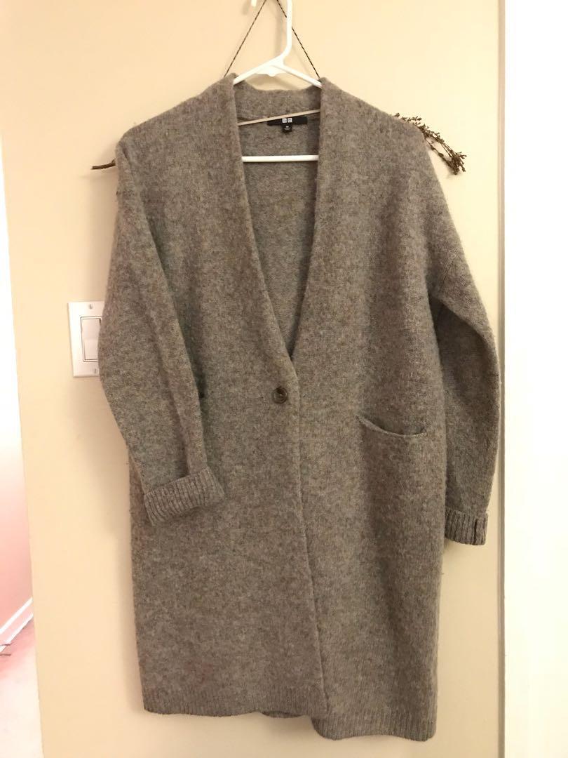 Uniqlo wool cardigan xs