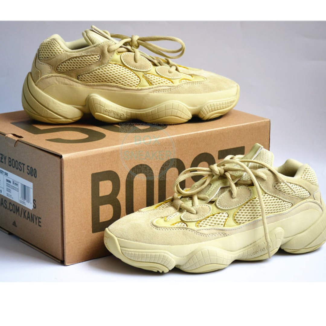 a382460cfff0e US11.5 UK11 Adidas Yeezy500 Super Moon Yellow - Authentic