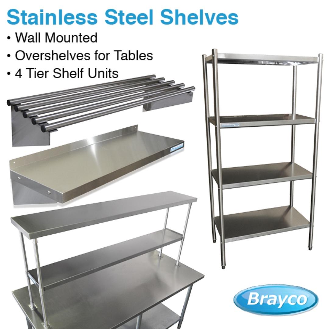 Wall Mounted Shelf Freestanding Shelf Stainless Steel