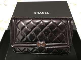 Chanel Boy WOC 黑珍珠色