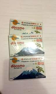 Docomo 日本數據卡 8日