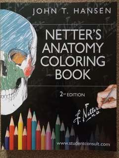 Netter's Anatomy Coloring Book 2nd edition John T. Hassen