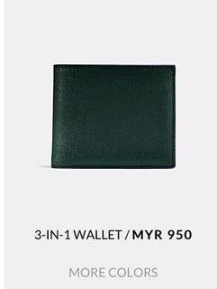authentic coach 3 in 1 wallet