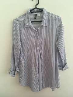 🚚 H&M 條紋襯衫