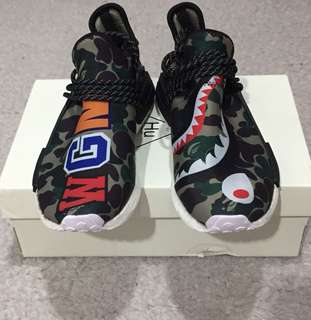 Adidas NMD HU Pharrell Williams X Bathing Ape Size 42 BNIB