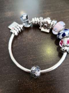 Pandora - PreLoved Blue CZ Pave Stars