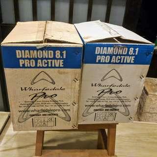 PAIR: Wharfedale Pro Diamond 8.1 Active Monitor Speakers