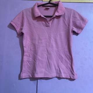‼️50% off‼️ Pink polo shirt 6-7 years old