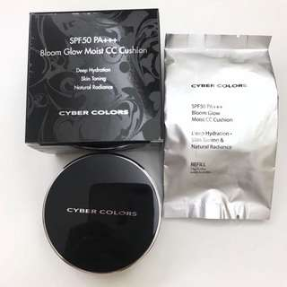 🈹Cyber colors bloom glow moist cc cushion (with refill)