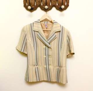 🚚 條紋短袖上衣外套