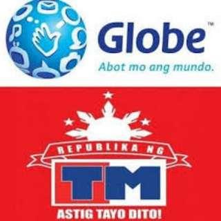 Discounted TM/Globe/Smart/TNT/Sun Load
