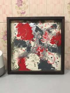 Abstract painting / tray