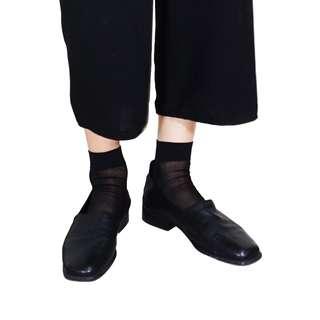 穆勒鞋 嗎? 柔軟皮質感方頭平底鞋