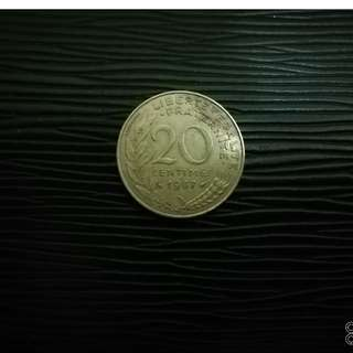 20cent Euro France 1987