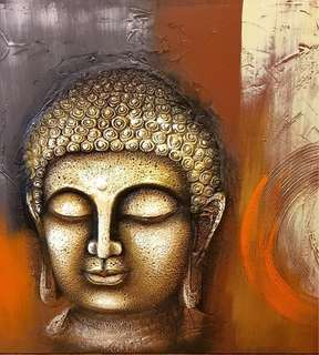 Buddha Head Huge Wall Canvas (1m x 1m) *Imported