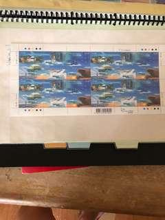 香港新機場郵票版張