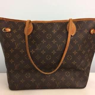 LV  Never Full Handbag M size